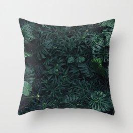 Luscious ferns Throw Pillow