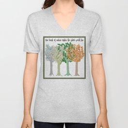 Four Season Trees Unisex V-Neck