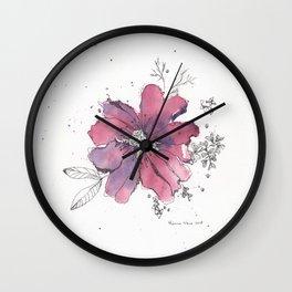 flor morada Wall Clock