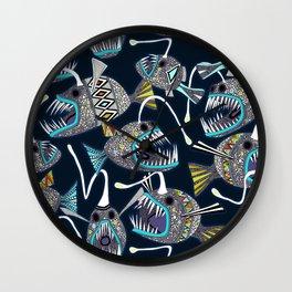 deep sea anglerfish Wall Clock