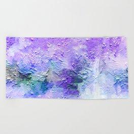 Lovely Lanvendar Pastel Textured Abstract Art Beach Towel