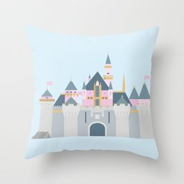 Sleeping Beauty's Castle Throw Pillow