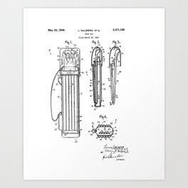 Golf bag Patent 1949 Art Print