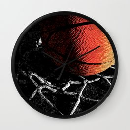 Basketball art cx vs 4 Wall Clock
