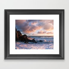 White With Foam Framed Art Print