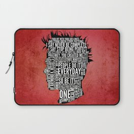 Typography Tyler Durden Uncensored Laptop Sleeve