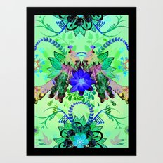 Magpie Love Art Print