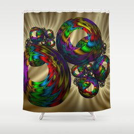 Circle colorful Shower Curtain