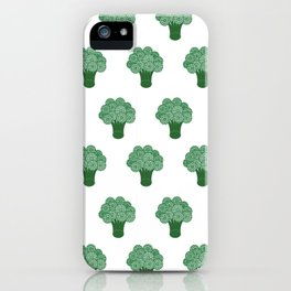 Pattern Green Broccoli  iPhone Case