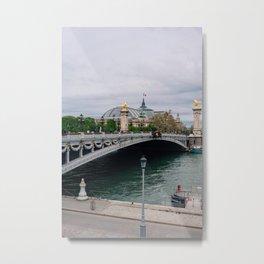 Pont Alexander III Bridge Metal Print