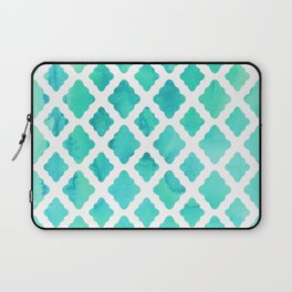 Watercolor Mint Diamonds Laptop Sleeve