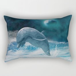Freedom of dolphins Rectangular Pillow