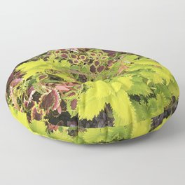 Foliage Fiesta With A Touch Of Begonia Floor Pillow