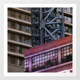 Manhattan Windows - West Side Story Art Print