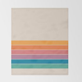 Boca Spring Stripes Throw Blanket
