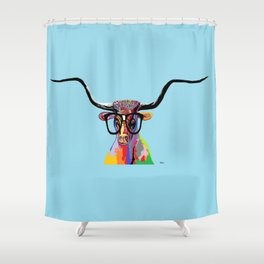 Hipster Longhorn Shower Curtain