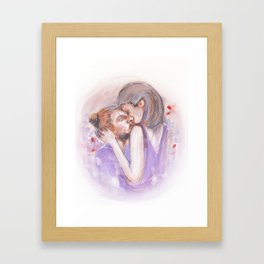 Kiss everyday like is the last one. Framed Art Print