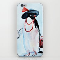 penguin iPhone & iPod Skins featuring Penguin by Anna Shell