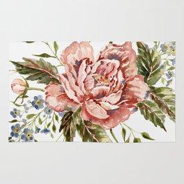 Pink Wild Rose Bouquet Rug