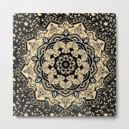 Indian Gold Mandala Metal Print