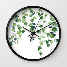 Eucalyptus Watercolor 2  Wall Clock