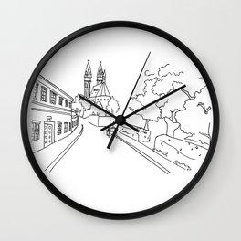 K rotundě, Praha 2, Czech Republic Wall Clock