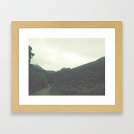 green blur Framed Art Print
