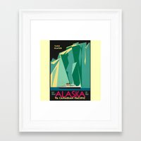 alaska Framed Art Prints featuring Alaska by Kathleen Casey