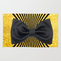 bow Area & Throw Rugs featuring Black bow by haroulita