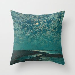 Classical Masterpiece 'Isle of Shoals' Rhode Island by Frederick Childe Hassam Throw Pillow