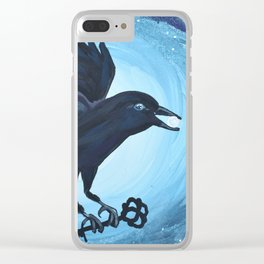 Crow Blessings Clear iPhone Case
