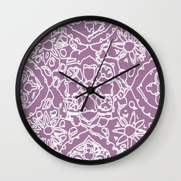 Isola lace signature print by JDZ Designs  Wall Clock
