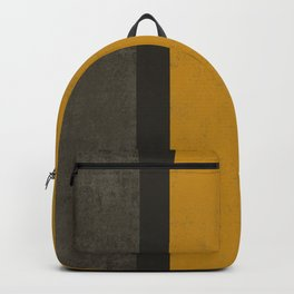 Abstract mustard grey Backpack