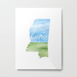 Mississippi Home State Metal Print