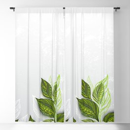 Background with Tea Plants Blackout Curtain