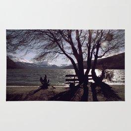 Bench and Lake Rug