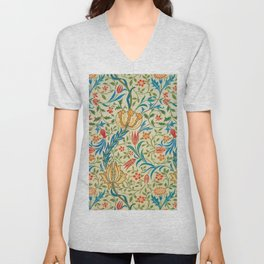 William Morris - Flora - Digital Remastered Edition Unisex V-Neck
