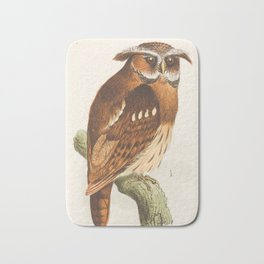 Owl on a branch  Bath Mat