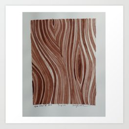Brown Wood Grain Art Print