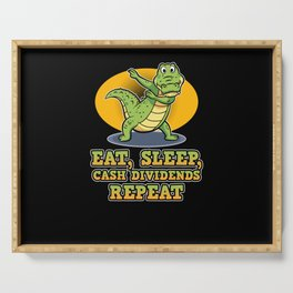 Dab Dabbing Crocodile Dividends Off Stock Loves Serving Tray