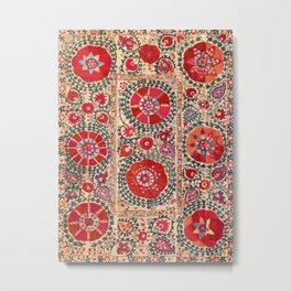 Samarkand Suzani Southwest Uzbekistan Embroidery Metal Print