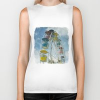 ferris wheel Biker Tanks featuring Ferris Wheel by Mary Kilbreath