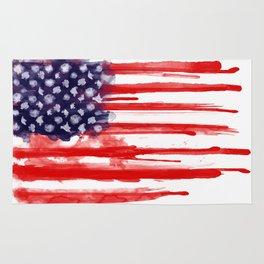 American Spatter Flag Rug