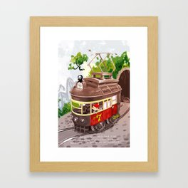 Travel By Trolly Framed Art Print