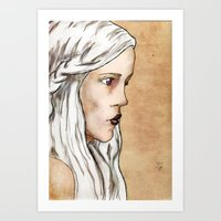 mother of dragons Art Prints featuring Mother of Dragons by Emily Duncan