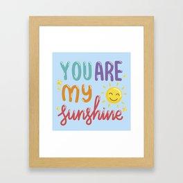 The Sunshine Love Framed Art Print