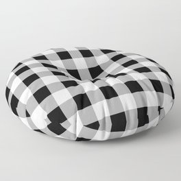 Black and White Check Floor Pillow