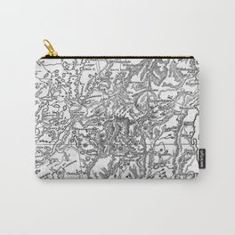 Vintage Map of The Adirondack Mountains (1879) Carry-All Pouch