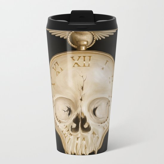 The Consequence of Time Metal Travel Mug