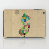 new jersey iPad Cases featuring New Jersey state map by bri.buckley